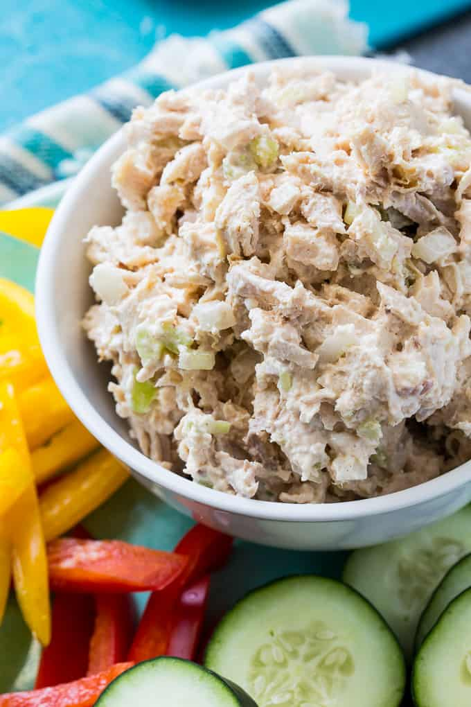 Light Chicken Salad is low carb and low fat