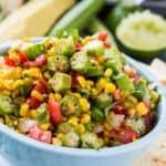 Okra Corn Salsa