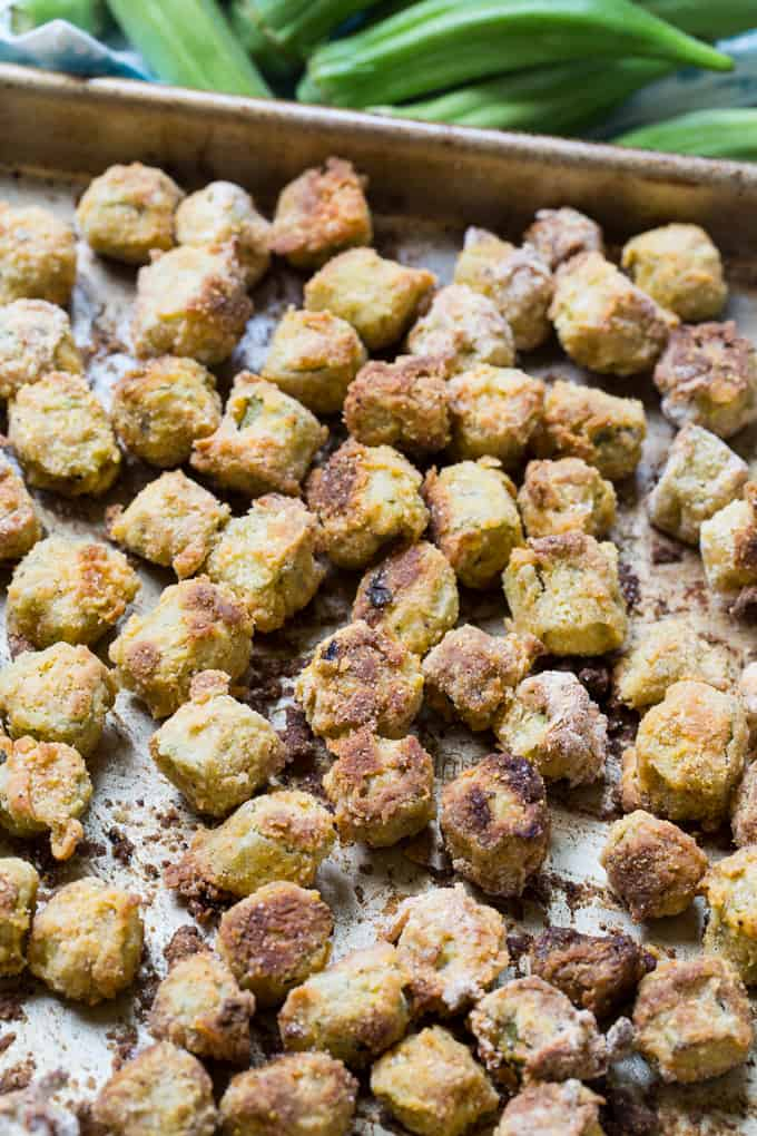 Crispy Baked Fried Okra