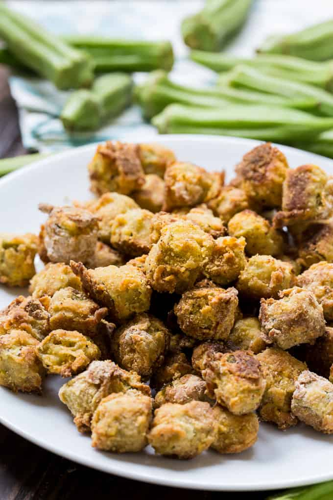 Baked Fried Okra is much healthier than deep fried okra