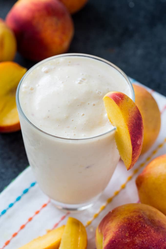 Banana Peach Smoothie- only 4 ingredients!