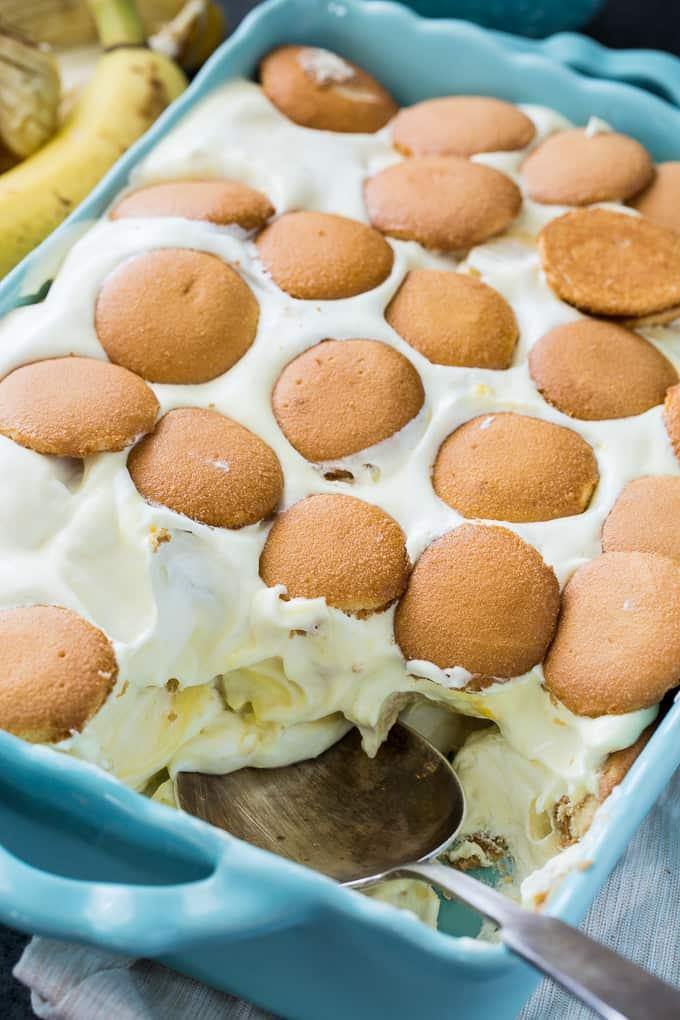 Skinny Banana Pudding with greek yogurt