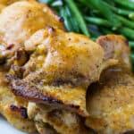 Maple Mustard Chicken Thighs