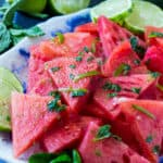 Mojito Watermelon makes a healthy snack.