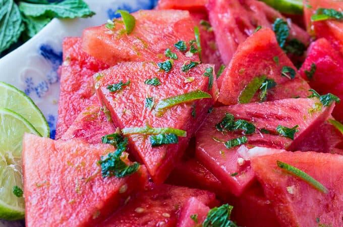 Mojito Watermelon makes a healthy snack.