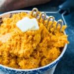 Sour Cream Mashed Sweet Potatoes