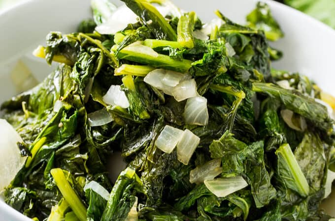 Easy Skillet Turnip Greens