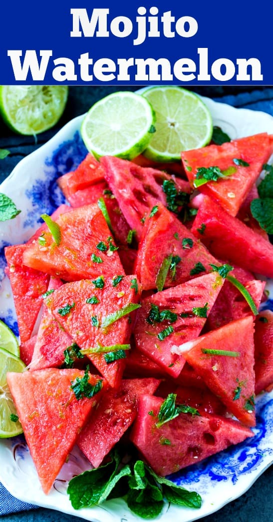 Mojito Watermelon with lime and mint #summer #watermelon