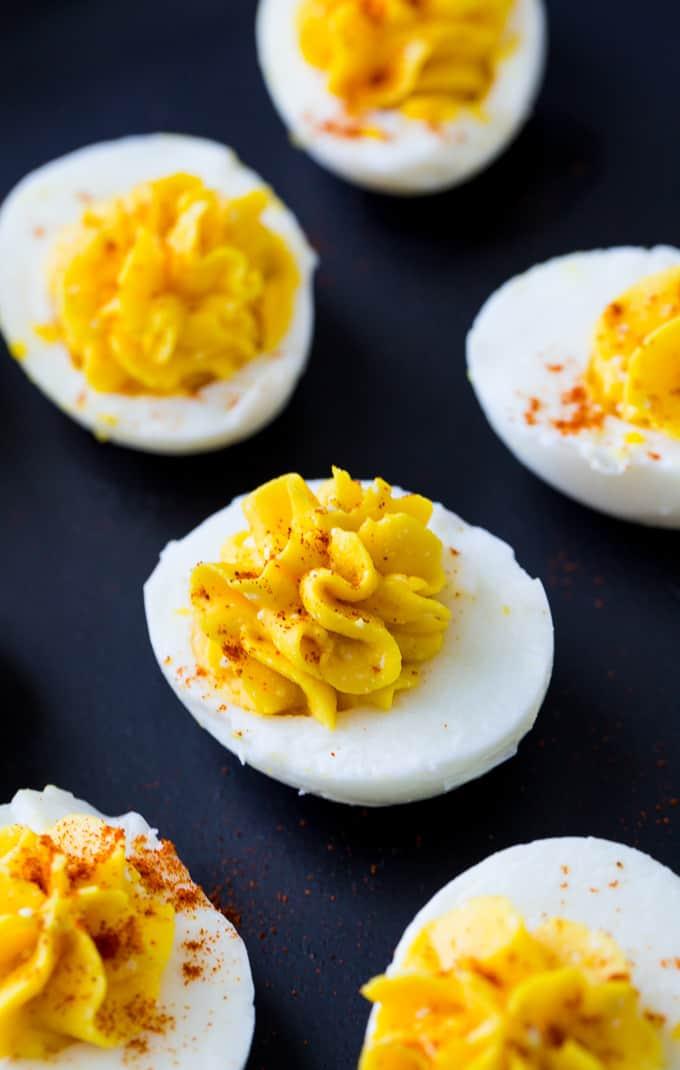 Skinny Deviled Eggs recipe