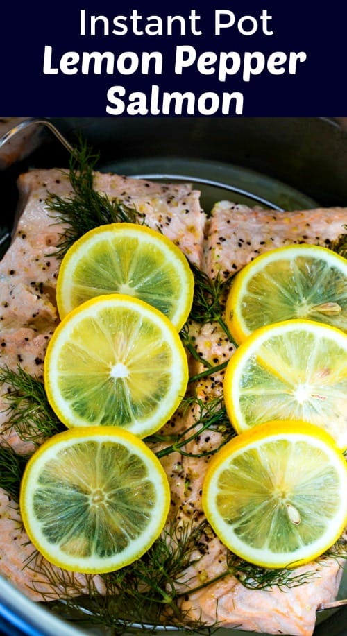 Instant Pot Lemon Pepper Salmon #healthy #salmon #lowcarb #glutenfree #keto #paleo