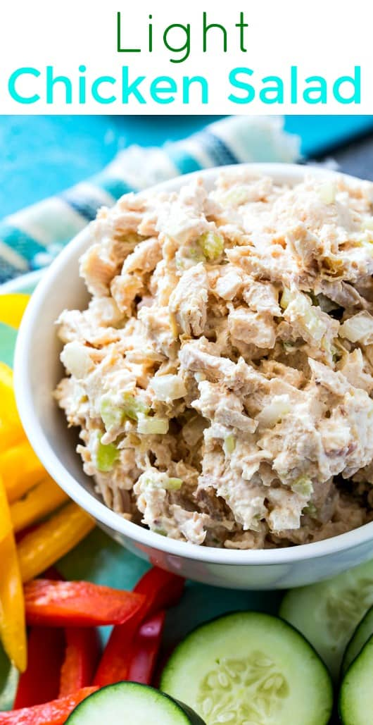 Light Southern Chicken salad #weightwatchers #lowcarb #chicken