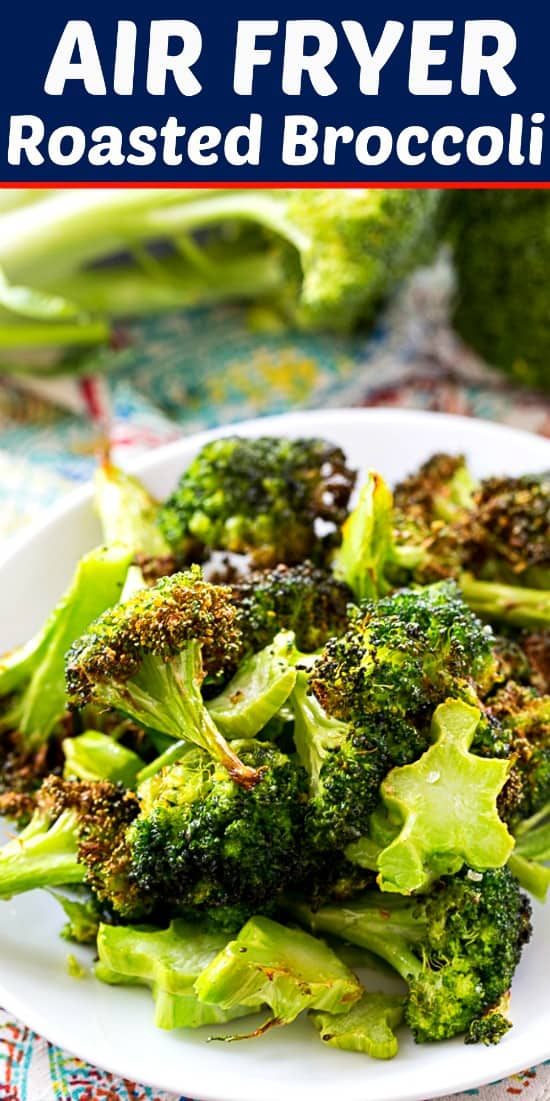 Air Fryer Roasted Broccoli #lowcarb #healthy #airfryer