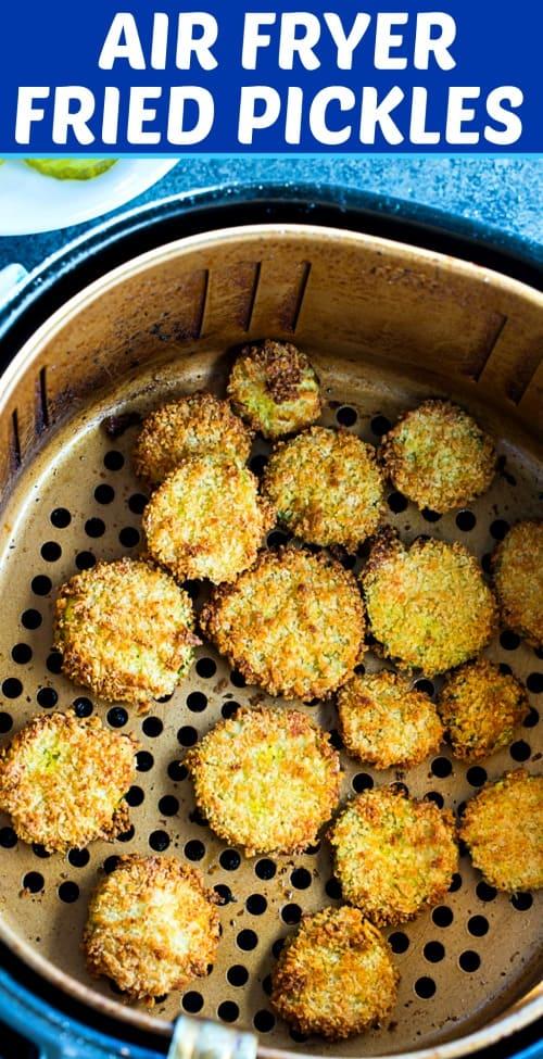 Air Fryer Fried Pickles #appetizer #gameday #airfryer #weightwatchers