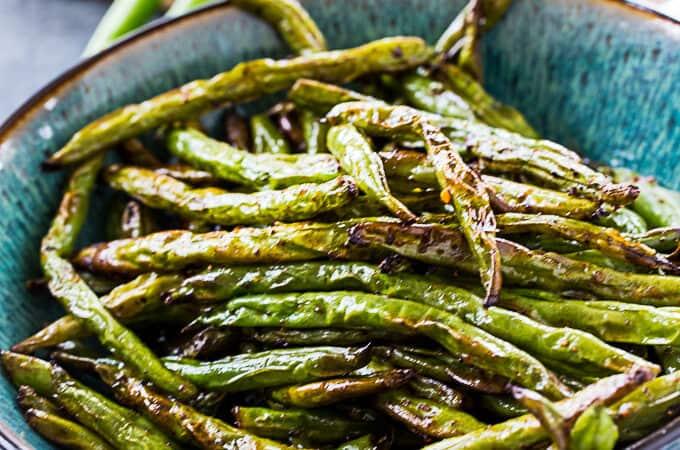 Air Fryer Asian-Style Green Beans