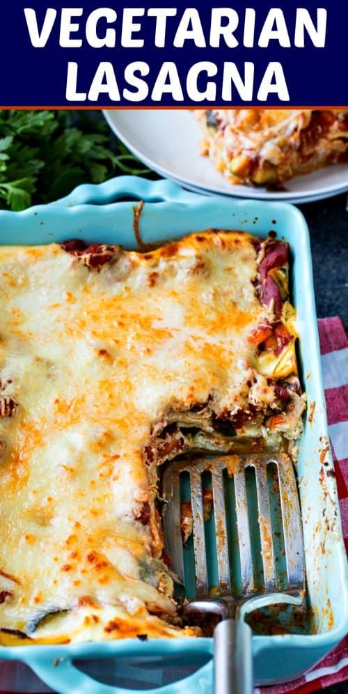 Vegetarian Lasagna #Italian #lasagna #vegetarian