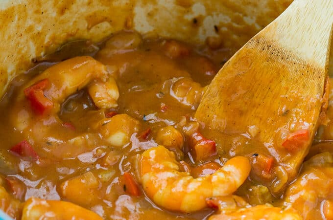 Skinny Shrimp Etouffee