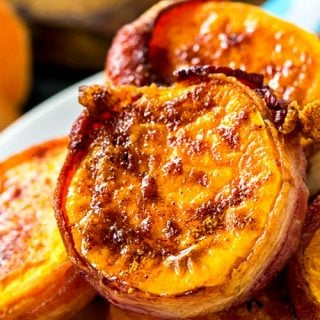 Air Fryer Bacon Wrapped Sweet Potato Rounds