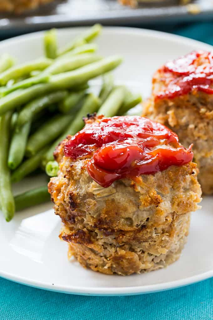 Cheesy Turkey Meatloaf Muffins