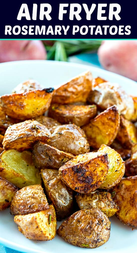 Roasmeary Potatoes roasted in the sir fryer