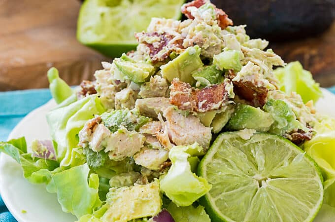 Chicken Salad with Avocado and Bacon