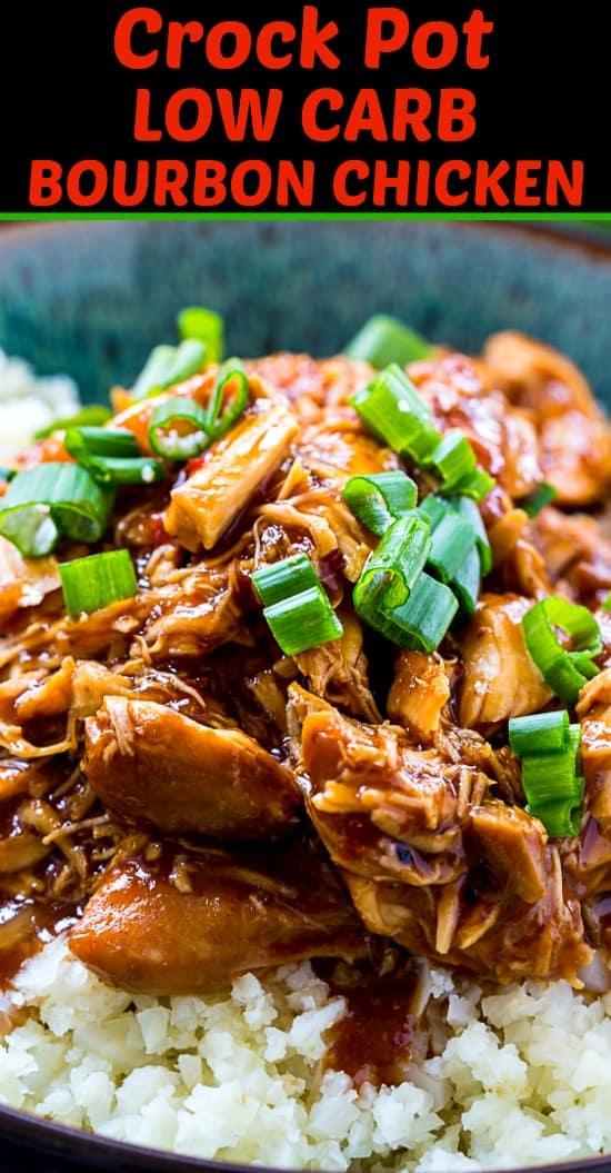 Crock Pot Low Carb Bourbon Chicken #keto