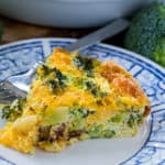 Crustless Broccoli Cheddar Quiche (Low Carb)