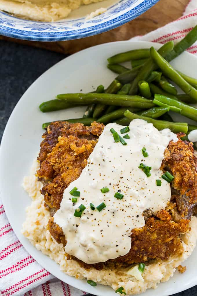 Keto Chicken Fried Steak and Gravy