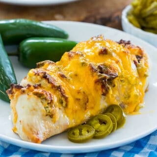 Air Fryer Jalapeno Popper Hasselback Chicken