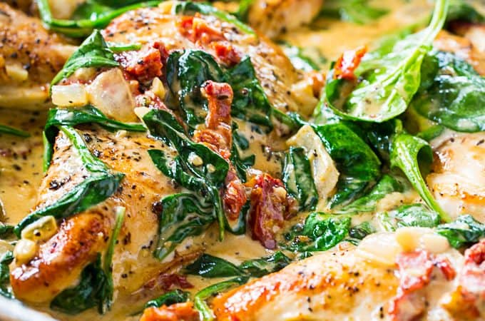 Low Carb Creamy Tuscan Chicken