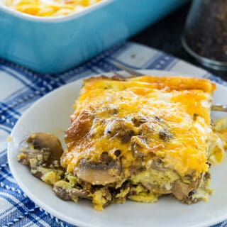Spicy Sausage and Caramelized Onion Breakfast Casserole