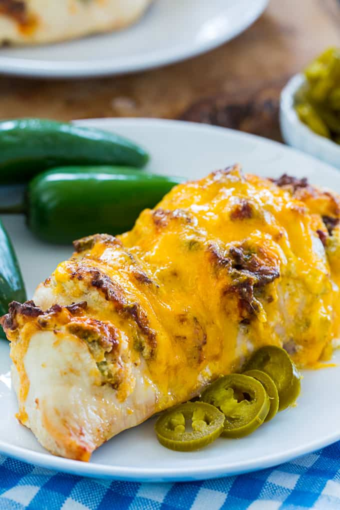 Air Fryer Jalapeno Popper Hasselback Chicken - Skinny ...