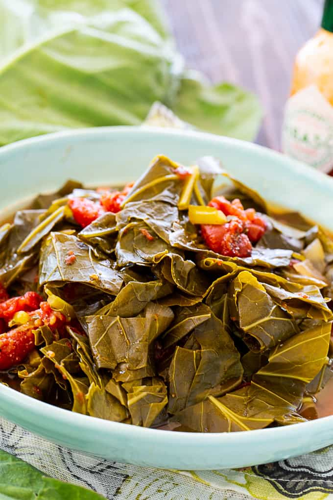 Slow Cooker Collard Greens with Tomatoes