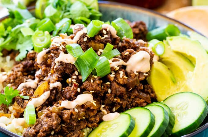 Keto Korean Beef Bowls