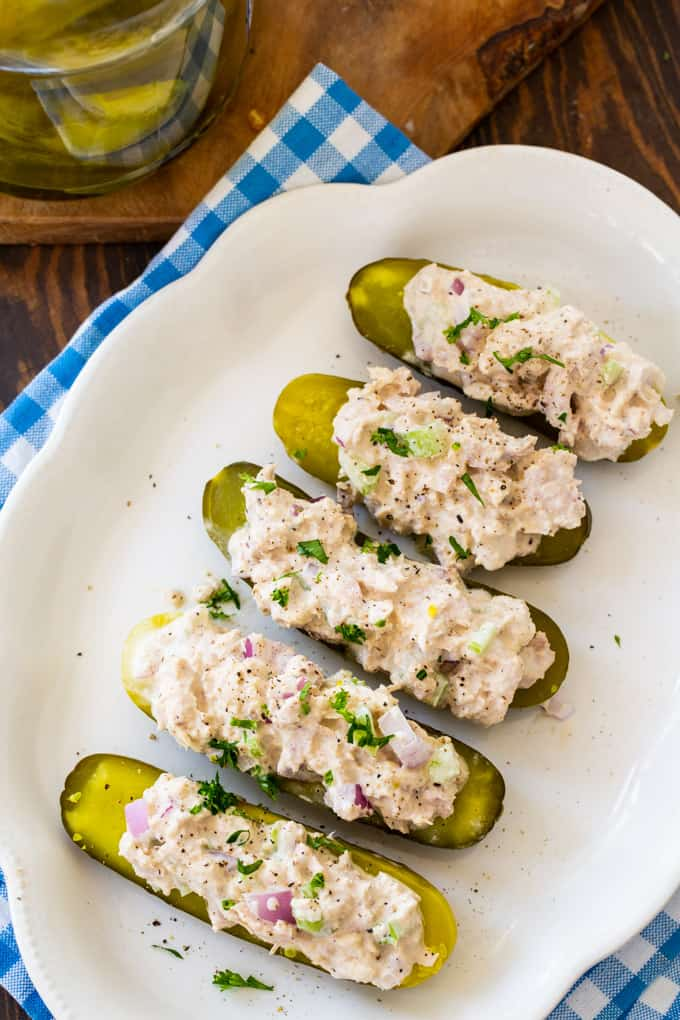 Tuna Salad Pickle Boats