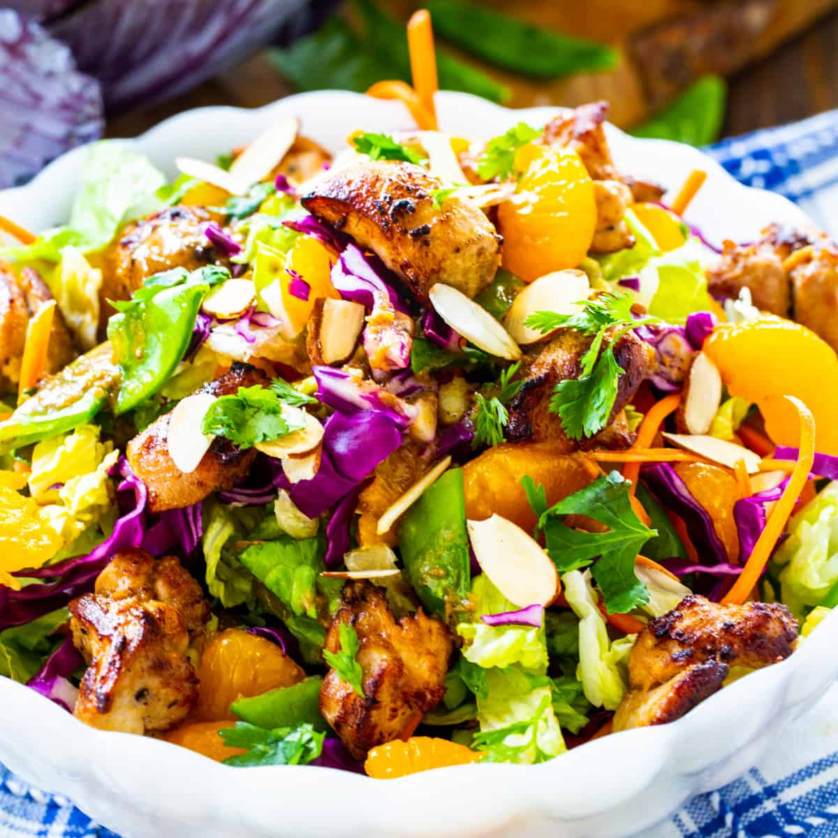 Asian Chicken Chopped Salad in a serving bowl.
