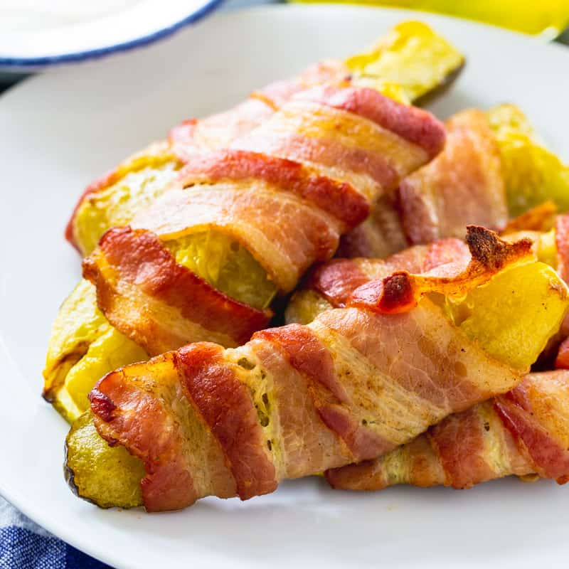 Bacon Wrapped Pickle Spears