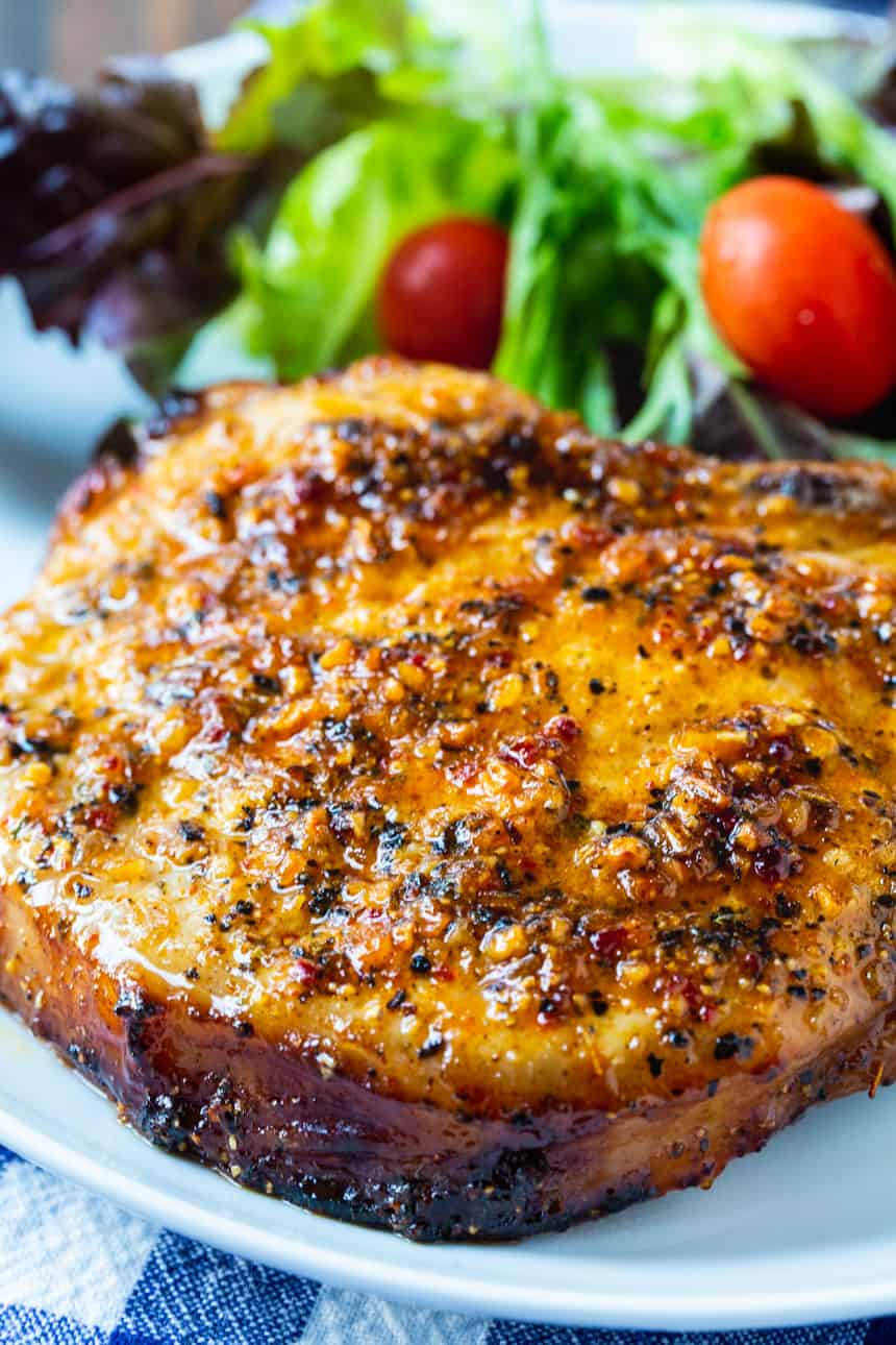 Air Fryer Honey Mesquite Pork Chops