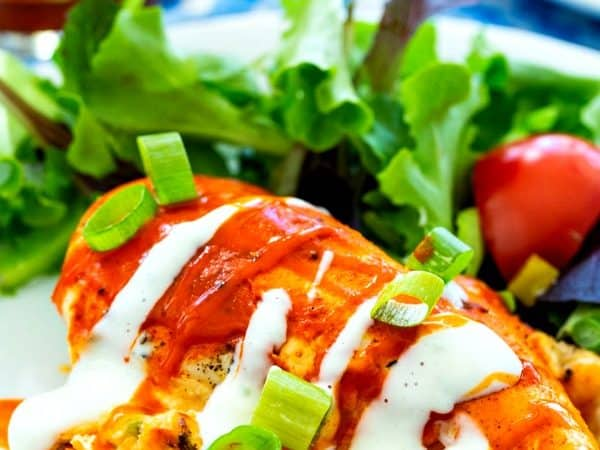 Low Carb Buffalo Stuffed Chicken