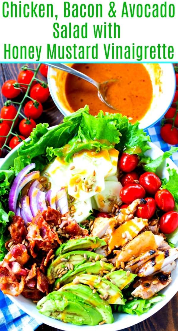 Chicken, Bacon, & Avocado Salad with Honey Mustard Vinaigrette