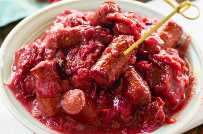 Cranberry Cocktail Franks