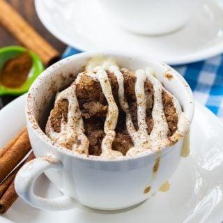 Low Carb Cinnamon Roll Mug Cake