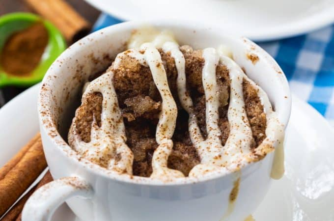 Low Carb Cinnamon Roll Mug Cake