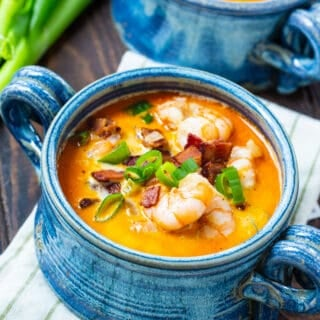 Low Carb Shrimp and Bacon Chowder