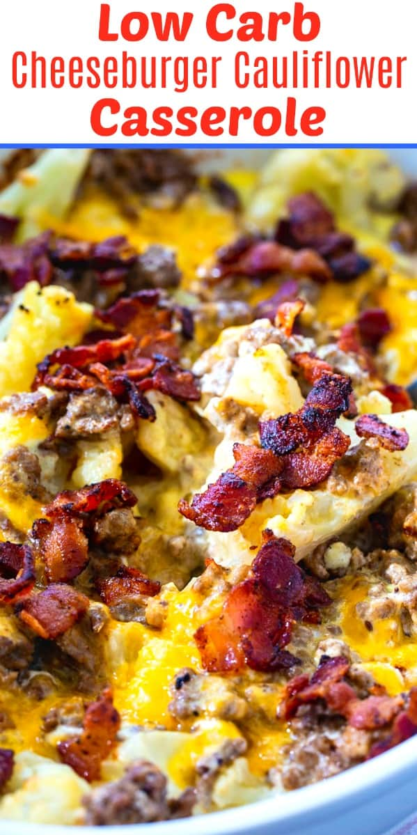 Low Carb Cheeseburger Cauliflower Casserole