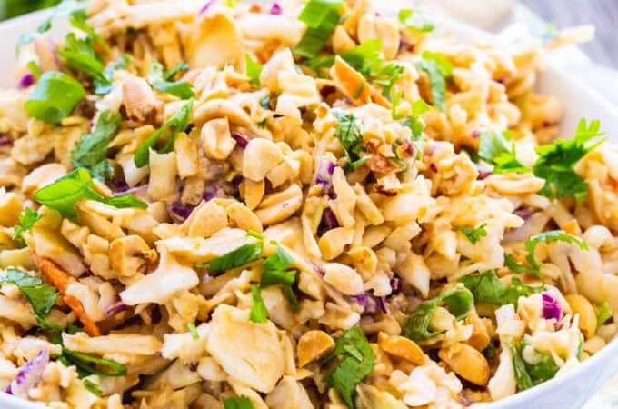 Low Carb Thai Peanut Slaw