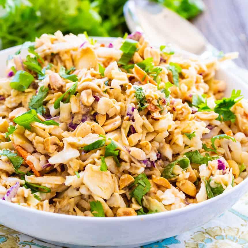 Low Carb Thai Peanut Slaw