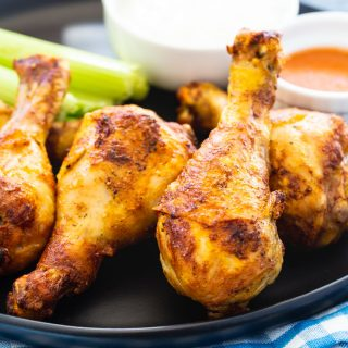 Buffalo Chicken Drumsticks cooked in the air fryer