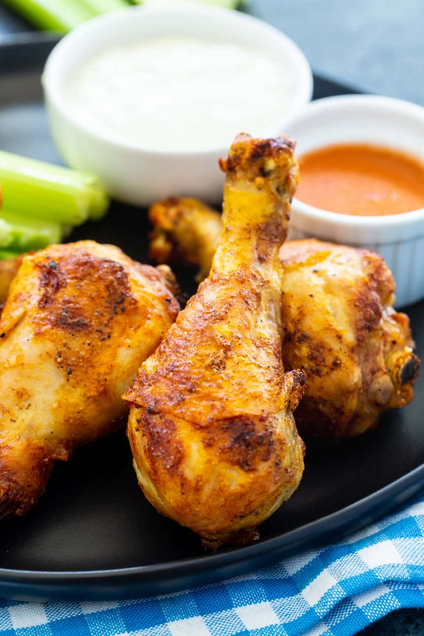 Air Fryer Buffalo Chicken Drumsticks