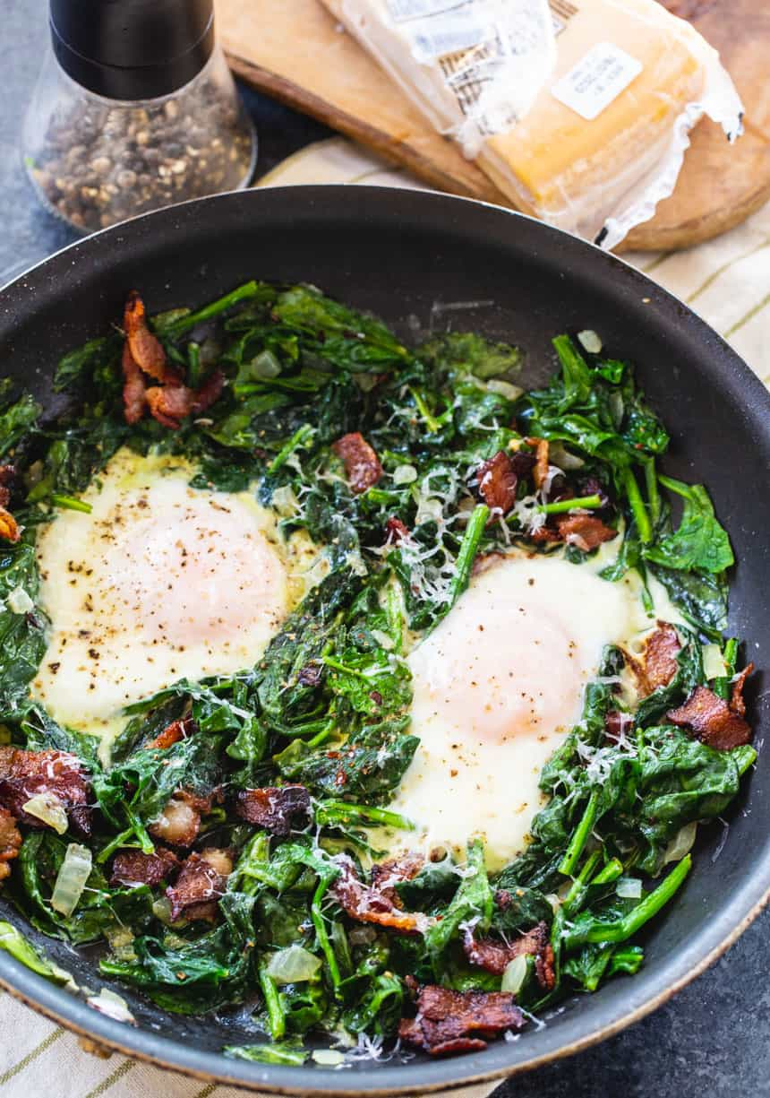 Low Carb Eggs Florentine