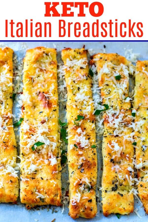 Low Carb Italian Breadtsicks